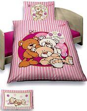 Baby Bettwäsche 100x135 cm NICI Bärenfamilie rosa