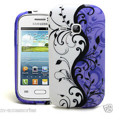 STYLISH FLORAL SILICONE/GEL CASE COVER FOR SAMSUNG GT-S6310 S6310L GALAXY YOUNG