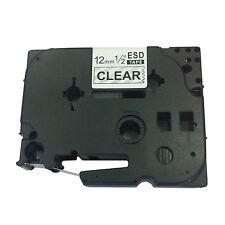Hermano compatible Tz131 Para P-touch pt1250 pt1260 12mm black/clear Etiqueta Cinta