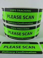 USPS TRACKING DELIVERY CONFIRMATION PLEASE SCAN Labels/Stickers 500 1.25x3 EBAY