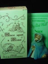 "WADE BIG BAD WOLF 4"" TALL 1998 Ltd ed  MINT BOXED CERTIFICATE ref  777"