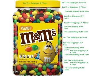 M&M'S Peanut Milk Chocolate Candy Bulk Jar (62 oz.) Free Shipping