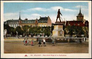 CPA - 68 Haut Rhin COLMAR  Monument Rapp et la Cathédrale Écrite 15.7.1935