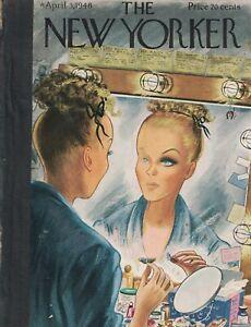 1948 New Yorker April 3 These fake eyelashes are kinda neat. Alajalov