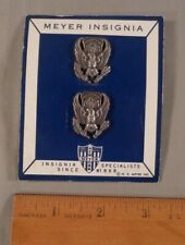 Vintage Pair of Air Force Rotc Uniform Lapel Pins Myer Insignia on Card Moc