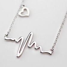 Heart Heartbeat Lifeline Necklace Electrocardiogram EKG Beat Nurse Doctor Love
