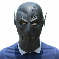 Mask Flash Zoom Black Halloween Cosplay Full Head Latex Helmet Props Costume New
