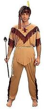 Mens Red Indian Pocahontas Native American Fancy Dress Costume M L XL XXL Outfit