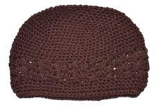 Kufi Hat Crochet Cap Beanie-brown