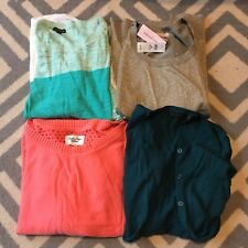 LOT OF 4 PREOWNED SWEATERS BANANA REPUBLIC EXPRESS THE LIMITED MEDIUM M SMALL S