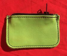 New Large Leather Sonoma Zippered Handmade Full-Grain Leather Pouch, Green (4�?