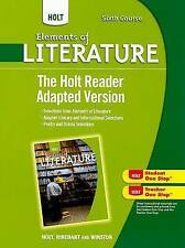 USED (GD) Holt Elements of Literature: The Holt Reader, Adapted Version Sixth Co
