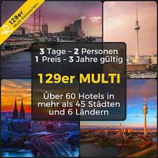 129er MULTI HOTEL REISESCHEIN 3 Tage 2P Hamburg Bremen München Kurzurlaub Reise