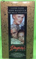 DANGEROUS LIASONS VHS 1988 Glenn Close Michelle Pfeiffer John Malkovich Swoozie