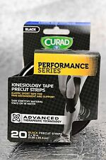 """New Curad Performance Series Kinesiology Athletic KT Tape 20 Strips 2"""" x 10"""""""
