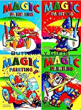 4 x A4 MAGIC PAINTING COLOURING ART BOOKS FOR CHILDREN NO MESS JUST USE WATER