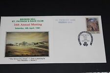 AUST 1981 ST. PATRICKS RACE DAY BROKEN HILL M/SHEET SOUVENIR COVER