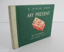 MY PRESENT by Lys Cassal, 1950 Riffle Book, Rare Christmas Flip Book