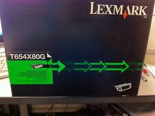 Original Lexmark T654X80G Tóner T654 T656 32.000s T654X11E T654X31E Nuevo B
