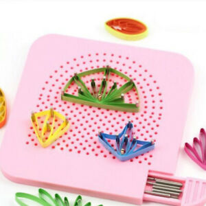 Quilted Grid Guide Paper Folding Crafting Paper Craft Plate Quilling Tools YG