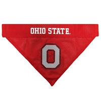 Ohio St. Buckeyes NCAA Licensed Pets First Dog Pet Reversible Bandana 2 Sizes