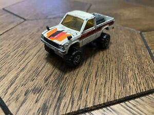 Majorette No287 No292 4x4 Toyota Pick-up Hilux White 1/56 France Diecast model