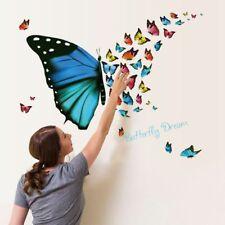 Wandtattoo Sticker Butterfly Schmetterling Mädchen Wohnzimmer Schlafzimmer #E10