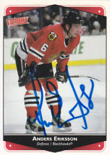 Anders Eriksson  Autograph Victory Blackhawks Card Sweden - Red Wings