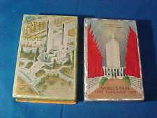 2 Orig 1933-34 CHICAGO WORLDS FAIR Souvenir DECKS Of PLAYING CARDS