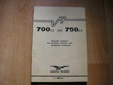 ORIGINAL MOTO GUZZI OPERATING HANDBOOK MANUAL V7 700 750