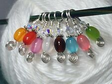 Small Needle Stitch Markers (SNAG FREE)- For Sock Knitters- Fit US3 Needles