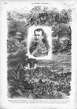 Garnet Joseph Wolseley Ashanti Campaign Great Britain ANTIQUE OLD PRINT 1874