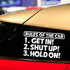 1X Car Funny RULES OF THE CAR Stickers Body Personality Window Stickers