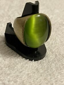 Vintage Brass Ring With Stone Size 7 1/2