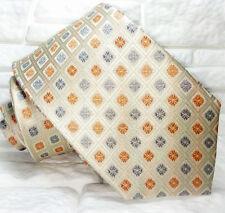 Cravatta beige  nuova 100% seta Made in Italy handmade  Morgana brand