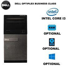 Dell Optiplex 390 Tower Windows 7/10 Intel Core I3 DDR3 DVD/RW WiFi HDD/SSD HDMI