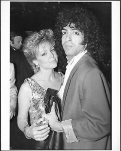 Lisa Hartman Paul Stanley of KISS at Studio 54 Original 1984 Stamped Press Photo