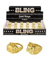 6 gold ring Gangster accessoire robe fantaisie Pimp Années 70 Costume Bijoux Monsieur T B