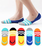 10 Pack Men's Cotton Invisible Nonslip No Show Casual Striped Boat Socks Low Cut