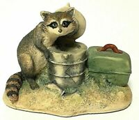 Vintage Hand-Signed Inscribed Lowell Davis Schmid Coon Capers Raccoon Figurine