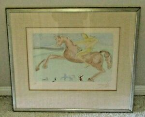 "Salvador Dali, ""Horse"", Signed and Numbered Original Etching, 73 /250"