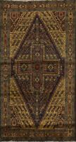 Vintage Geometric Tribal Balouch Afghan Area Rug Hand-knotted Kitchen Carpet 4x6