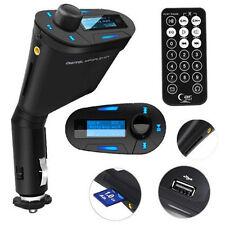 Wireless Handsfree Car Kit Lcd Fm Transmitter Modulator Usb Sd Mmc Mp3 Remote