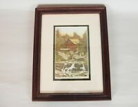 8790: Lonnie C. Blackley Jr Signed Numbered Grist Mill Print Framed Matted