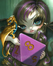 Jasmine Becket-Griffith art print SIGNED 8 Sided Dice Fairy d8 dragonling d&d