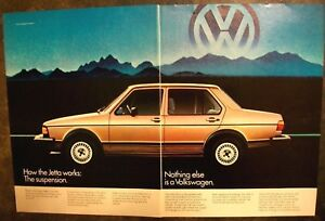 1982 Volkswagen Jetta brown car blue mountains VW photo 2-PG Vintage Print Ad