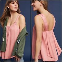 Anthropologie Vanessa Virginia Pink Knotted Tank Top Size S