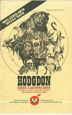 1984 Hodgdon Basic Loading Data Catalog