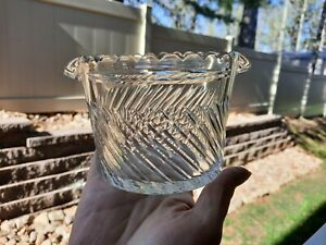 Antique Glass Wine Rinser, Fluted slant cut Design, 1800's, Nice