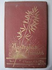 Antiquarian AUSTRALIAN GRASSES by Fred Turner,1895,Fine Binding,N.S.W.Grazing.